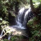 落城時に女性や子供・家臣が次々と身を投じたと言われる滝。
