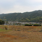 陣屋跡と城下の景色