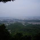 詰城の深沢山から見た東の八王子市街の景色