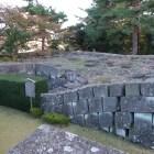 控天守台跡。福井地震による崩壊の跡