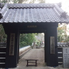 金心寺山門。黒門。