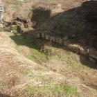 わずかに残る土塁と堀跡。