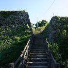 二の丸から本丸に続く橋、当時は木橋