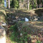 城主居館跡最下段の南面石垣