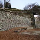 三ノ丸から見る段曲輪の石垣