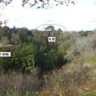 新城から見た河後森城の全景