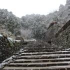 雪の大手道
