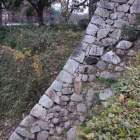 竹林門跡付近の石垣。