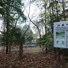 神社裏の四脚門跡
