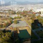 ⑩県庁別館21F展望ロビーから見た本丸。平成31年1月撮影
