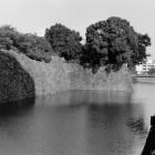 ⑥二の丸堀を南西隅から東側を望む。昭和56年撮影。