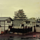 ⑧平成元年に開催された駿府博の時の本丸の様子。この時1/2スケールで模擬天守が建てられました。