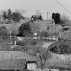 ⑦天守台より太鼓櫓跡を望む、昭和56年撮影