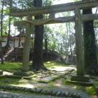 熊野神社にある土塁