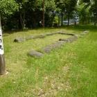 三ノ丸跡の礎石