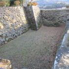 空堀と武具櫓石垣
