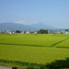 二ノ丸土塁からの磐梯山の眺め