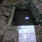 太閤井戸。名護屋城図屏風と同じ形です。