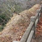 二の丸にあった、土塀の痕跡?