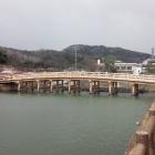 擬宝珠橋。緩やかなRが美しい。