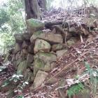 登山道脇の石垣。宮部時代のものか。