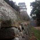 稲荷曲輪跡石垣と坤櫓。明石城は石垣も素晴らしい!