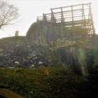 天守跡と本丸石垣