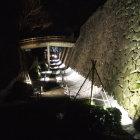 極楽橋と石垣のライトアップ