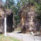 青柳城の近くにある青柳の大切通も見どころ。