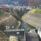 堀切川。改修されて深くなっている。