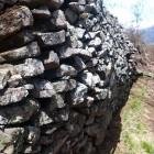 青柳城の石垣。高さは1.5m以上。