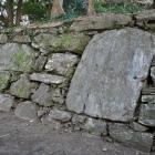 西二の丸石垣。