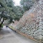 本丸乾櫓の石垣。高い。