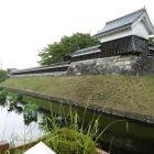 勝竜寺城水堀と鉢巻石垣