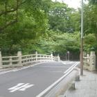 大手橋。この先に大手門が復元されるんですね。