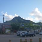 会津田島駅付近から見た鴫山城
