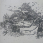 鴫山城鳥瞰図