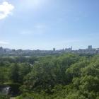 天守台から福岡城下の景色