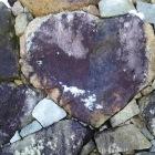天守台石垣のハート形石