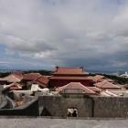 東のアザナから見る正殿方面