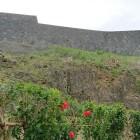 正殿後ろ側の石垣