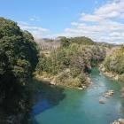 豊川と宇連川の合流地点
