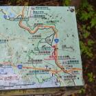 上九一色中学校跡地前にあった周辺地図