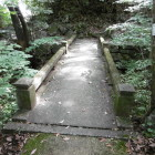 空堀にかかる石橋