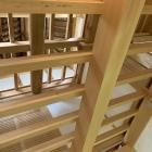 坤櫓内部  天井を見上げています