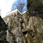 一番最初に見える城の塀