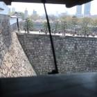 千貫櫓から大手門方面を望む。横矢掛け放題