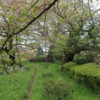 土塁上から見た四谷見附の石垣