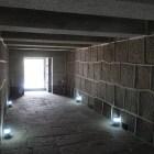 焔硝蔵内部。全て花崗岩で隙間は漆喰で塗り固める