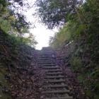 竪堀を登る
